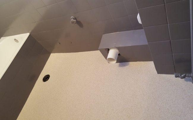 ανανέωση μπάνιου και χαλαζιακό δάπεδο